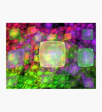 Cube Galaxies Photographic Print