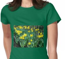 Daffodils Growing In The Woods Womens Fitted T-Shirt