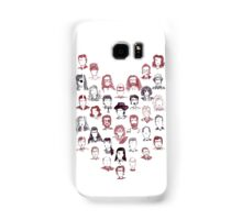 Twin Peaks Faces Chevron in Curtain Red and Black Lodge Samsung Galaxy Case/Skin