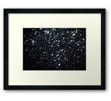 Dark Raining Bokeh Framed Print