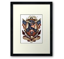 forever young captain america Framed Print