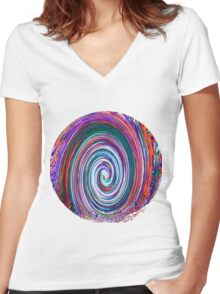 Finding the Wave - Abstract Women's Fitted V-Neck T-Shirt