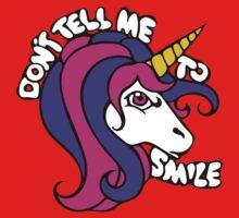 DOn't tell me to smile retro unicorn One Piece - Short Sleeve