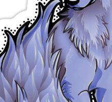 Blue Flame-Tail Wolf Sticker