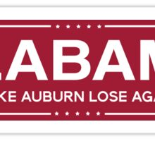 alabama trump Sticker