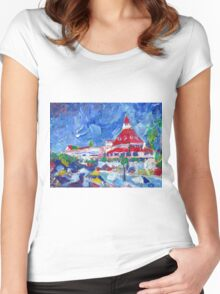 Hotel Del Coronado Picture San Diego California Women's Fitted Scoop T-Shirt