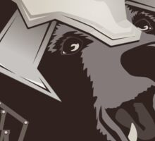 Propaganda Poster: Don't Be a Sad Bear! Sticker