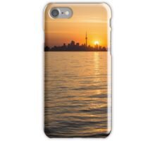 Toronto Skyline - Greeting a Brilliant Summer Sunrise iPhone Case/Skin