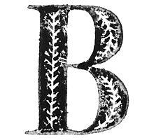 Serif Stamp Type - Letter B Photographic Print