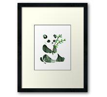 cute ink panda Framed Print