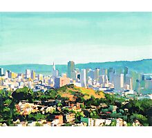 San Francisco Sunshine, San Francisco Skyline Picture Photographic Print