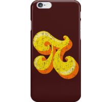 Retro-Flavored Pi GRUNGE iPhone Case/Skin