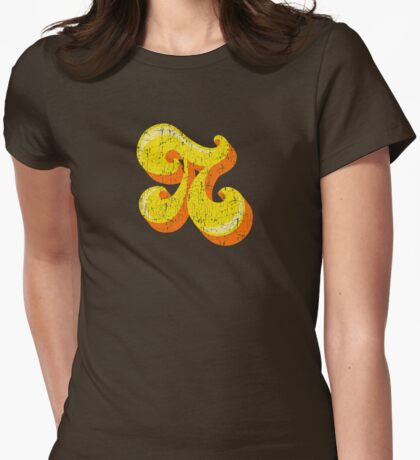 Retro-Flavored Pi GRUNGE Womens Fitted T-Shirt