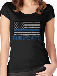 Blue Lives Matter Women's Fitted Scoop T-Shirt