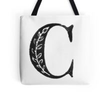 Serif Stamp Type - Letter C Tote Bag