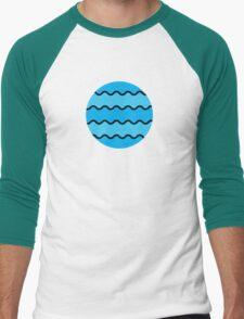 WAVE PATTERN Men's Baseball ¾ T-Shirt