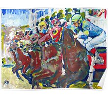 And Theyre Off! Horse Racing Picture Poster