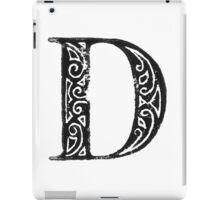 Serif Stamp Type - Letter D iPad Case/Skin