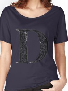 Serif Stamp Type - Letter D Women's Relaxed Fit T-Shirt