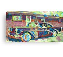 Grandma's Here! Classic car Picture Canvas Print