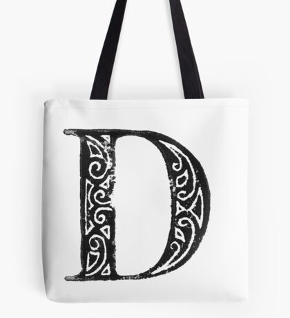 Serif Stamp Type - Letter D Tote Bag