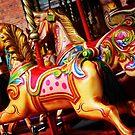 Fairground carousel horses by Jonesyinc