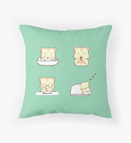 hamster daily Throw Pillow