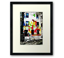 The Tetris Apartment Framed Print