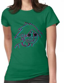 2-D in 3-D Womens Fitted T-Shirt