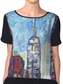 Empire State Building, New York City Picture Chiffon Top