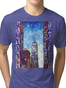 Empire State Building, New York City Picture Tri-blend T-Shirt