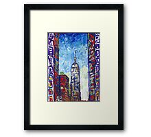 Empire State Building, New York City Picture Framed Print