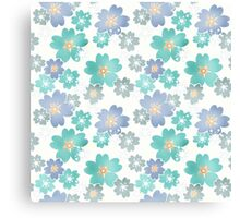 Seamless floral pattern flowers print background Canvas Print