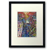 Fifth Avenue Empire State Building, New York City Picture Framed Print