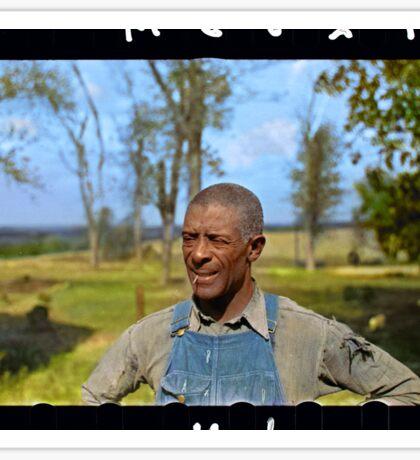 """""""Negro tenant farmer"""" in Jefferson County, Kansas, 1938. Sticker"""