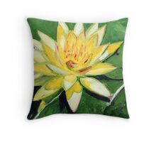 Yellow Waterlily Throw Pillow