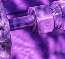 Turn handle, get purple rain? Sticker
