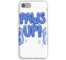 Paws Up! (blue) iPhone Case/Skin