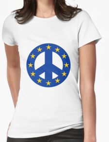 European Union Peace Symbol Womens Fitted T-Shirt