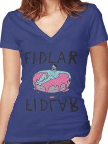 fidlar band Women's Fitted V-Neck T-Shirt