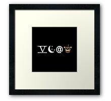 Five Nights Emoji Framed Print