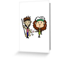 Rogue and Gambit Greeting Card