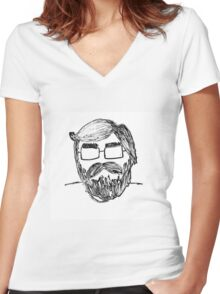 Portrait One Women's Fitted V-Neck T-Shirt