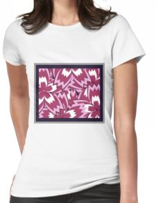 Colorful foral jam Womens Fitted T-Shirt