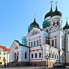 Alexander Nevsky Cathedral, Tallin, Estonia by Carole-Anne