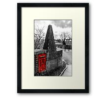 Red British Post Office Post Box Framed Print