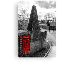 Red British Post Office Post Box Canvas Print