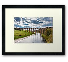 Leaderfoot Railway Viaduct over the River Tweed Framed Print