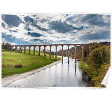 Leaderfoot Railway Viaduct over the River Tweed Poster