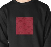 Twin Peaks Owl Petroglyph in Curtain Red Pullover